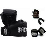 Kit Boxe Muay Thai Fheras Luva Bandagem Bucal Super Promoção