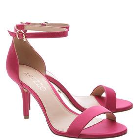 Sandalia Isabeli Arezzo Pink Salto Medio Fino