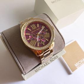Relógio Michael Kors (réplica) Fundo Rosa - Relógios no Mercado ... c23e916d26