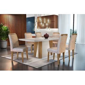 Mesa De Jantar Valença 1,80 X 0,90 C/6 Cadeiras Athenas