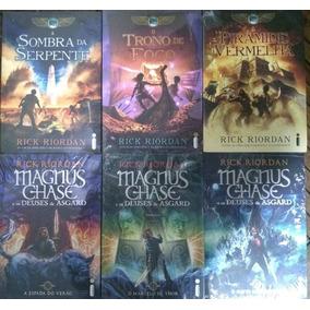 Livros Percy Jackson Série Magnus Chase + Crônicas Dos Kane