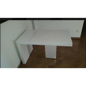 d1c0da320 Mesa Laca Branca Retangular Com Vidro - Mesa de Jantar Retangular em ...