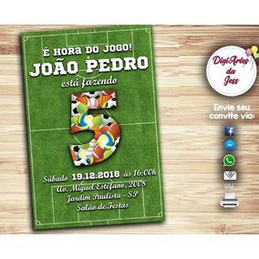 Convite Bola De Futebol - Festas no Mercado Livre Brasil 0fb0b6e921f61