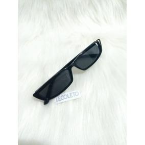 Oculos Retangular De Sol Fino - Óculos De Sol no Mercado Livre Brasil 4676238231