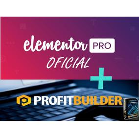 Profitbuilder + Elementor Pro Licenças Originais