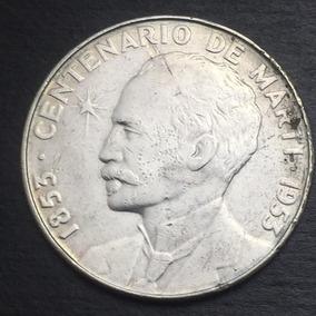 Moneda Cuba Un Peso Centenario Marti 1953 Plata