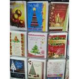 Cartão Feliz Natal C/ Envelope E Msg Com 48 Unidades