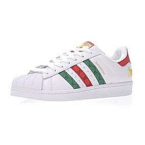 Tênis adidas Preto/ Branco Superstar Original Couro Promoção
