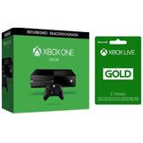 Consola Xbox One Negra 500gb Reconstruida 3 Meses Live