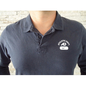 Camisa Polo Manga Longa Nike Cinza Tamanho Gg 481faa28b3720