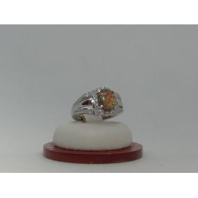 Hermoso Anillo De Plata 925 Con Opalo Y Cristales 1ed7a17