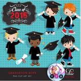Kit Imprimible Graduacion Toga Birrete Nene Pack Clipart Png da8a0f941f4
