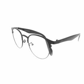 fc994f6a7d9f8 Armação Óculos Para Grau Preta Redondo 3s Masculino Ww-01. R  85 99