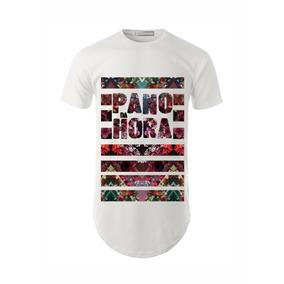 c683a5d045ec5 Camisa Camiseta Masculina Long Line Swag Flowers