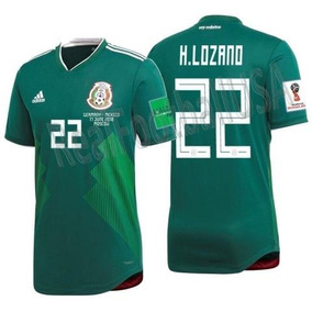 07ff618d7 Genial Jersey Verde H. Lozano 22 Mexico Parches Mundial 201