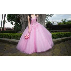 Hermoso Vestido De Quinceaños , Corte Princesa Color Rosa