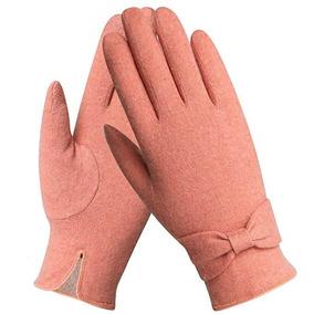 Guantes De Frio Invierno Color Rosa Coral Mujer Marca Warmen