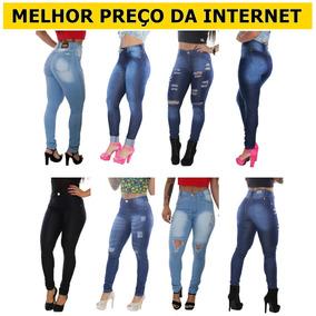 Kit 3 Calcas Jeans Femininas Hot Pant Cintura Alta Com Lycra