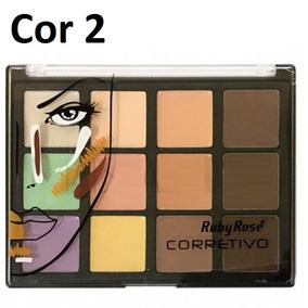 Paleta Corretivo Contorno Ruby Rose 12 Cores Kit Maquiagem