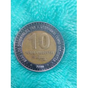 Moeda 10 Pesos Uruguai *2000* Rara Cunhada No Canadá