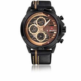 Relógio Naviforce 9110 Super Luxuoso Top Com Caixa Original