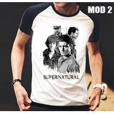 Camisa/camiseta Raglan Supernatural Dean,sam,castiel