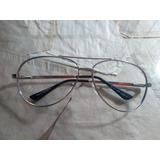 Óculos Armação Ray Ban Made In Italy Prateado Original 8f11e0e763