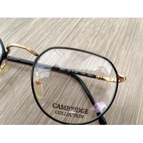 Armação Oculos Redondo Grande Preto Retro Frete Gratis · R  79 99 356391cff5