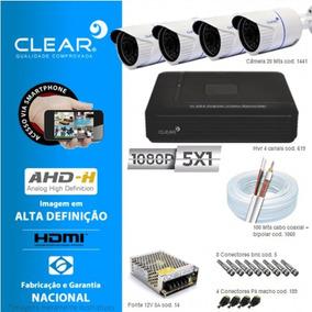 Kit De 4 Câmeras + Dvr