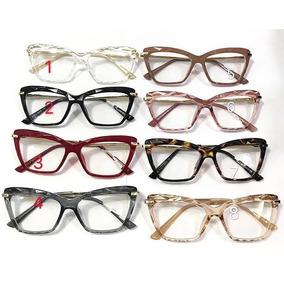 Armação Oculos Grau Geek Diamante Transparente Mosaico Femi 48f9ffb1e9