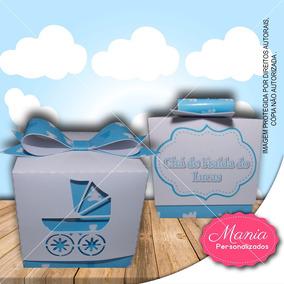 Caixinha Cubo Chá De Bebê Carrinho(20 Unidades)