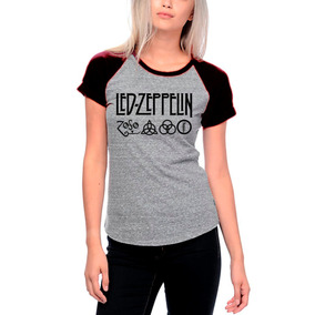 Camiseta Led Zeppelin Feminina Cinza - Camisetas Manga Curta no ... debd0c2bb50
