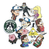 Gravity Falls Sticker, Vinyls Stickers For Laptop [10 Pcs] N