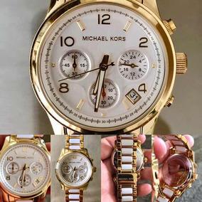 37747f7a584a9 Relógio Michael Kors Modelo Mk 5292 Branco Frete Grátis - Relógios ...