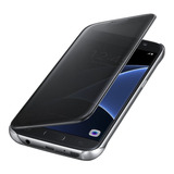 Funda S7 Flat Original Flip Cover Clear View Samsung Galaxy