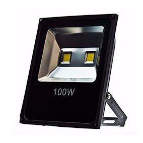 Refletor De Led - 100w - 38x30cm - Black - Luz Verde