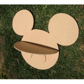 Repisa Mickey En Fibrofácil 60 X 30 Cm