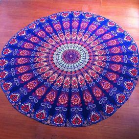 Canga Redonda Poliéster Chiffon Mandala Yoga Saída Praia A05