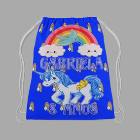 Mochilinha Surpresa 80unds Tema Unicornio