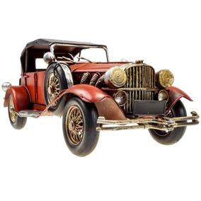 Minitura Carro Ford Calhambeque 1928 Metal Rústica Antigo