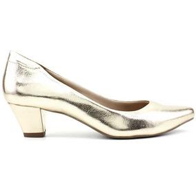 7b28e80ed5 Scarpins Femininas - Scarpins para Feminino Dourado escuro no ...