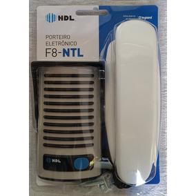 Porteiro Interfone Eletrônico F8-ntl Hdl+protetor Prateado