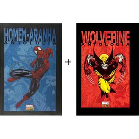 Kit C/ 2 Hq - Homem-aranha: Antologia + Wolverine: Antologia