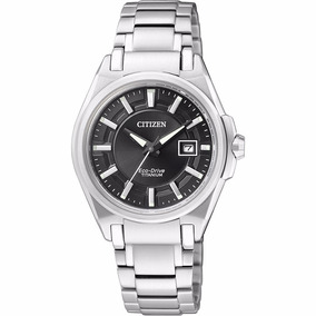 Reloj Citizen Eco-drive Para Dama Con Fechador Ew1880-56e