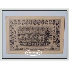 Raro Poster - Copa De 1958 - Brasil Campeão - F(1580)