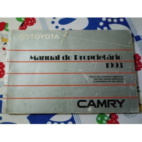 Toyota Camry 1993 Manual Do Proprietario Rarissimo