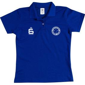 Polo Feminina Cruzeiro Baby Look Blusa Feminino Gola Polo Md 09a3846961c4a