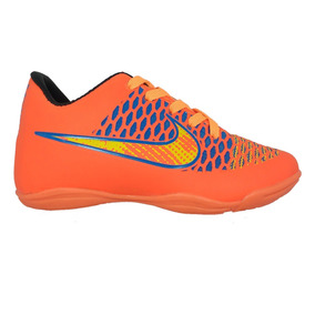 Chuteira Nike Laranja Futsal Cristiano Ronaldo Infantil - Chuteiras ... d620ab104e694