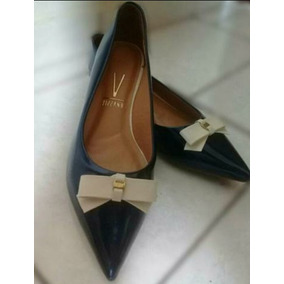e5c3f5145c Sapatilha Bico Fino Brilhante Vizzano - Sapatos para Feminino Azul ...