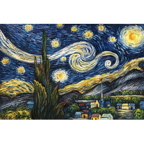 72d2b3fe60a2cd Baccow - Starry Night By Vincent Van Gogh - 100% Handmade Oi